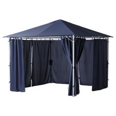 super inexpensive! Gazebo+ white lights=Love  $129  KARLSÖ Gazebo with curtains - blue - IKEA