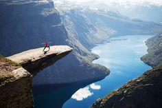 """Trolltunga aka """"Troll's Tongue"""", Norway // hiking trails, travel"""