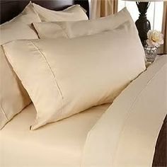 """Luxurious GOLD Solid / Plain, CALIFORNIA KING Size. EIGHT (8) Piece GOOSE DOWN Comforter BED IN A BAG Set. 1500 Thread Count Ultra Soft Single-Ply 100% Egyptian Cotton. INCLUDES 4pc BED SHEET Set, 3pc DUVET SET & GOOSE DOWN Comforter by Egyptian Cotton Factory Outlet Store. $299.95. Luxury Duvet Set Includes 1 Duvet Cover (106"""" x 92"""") and 2 Shams (20"""" x 26""""). 1 Flat Sheet (108"""" x 102""""), 1 Fitted Sheet (72"""" x 84"""") and 2 King Pillow Cases (20"""" x 40""""). Brand New and Factory Seale..."""