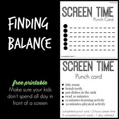 SCREEN TIME PUNCH CARDS | We are excited about all the fun we are going to have. And one way I'm going to make sure that we have fun this summer is to limit screen time. It's WAY too easy to spend hour after hour in front of a screen when our time is less structured. That's why I created these Screen Time Punch Cards.