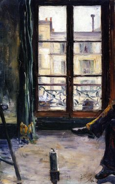 Paul Signac - Etude de Montmartre - Studio, 1883 Huile sur toile