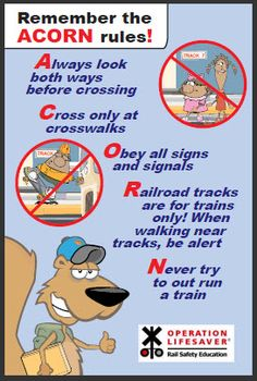 29 Best Rail Safety Tips! images in 2016 | Railroad tracks
