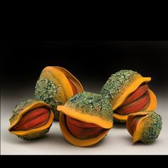 Otherworldly Tropical Fruits and Plants From the Imagination of Ceramicist William Kidd Sculptures Céramiques, Sculpture Art, Ceramic Sculptures, Kintsugi, Ceramic Clay, Ceramic Pottery, William Kidd, Organic Sculpture, Organic Ceramics