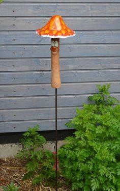 Pilz keramik garten pilze Gartenfigur Gartenstecker