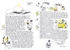 "Tove Jansson ""Christmas Letter"" 1963 all rights: Moomin Characters https://interactive.sanoma.fi/arkku/files/24182701ToveJanssonKorvatunturiLetterOriginal1.jpg"