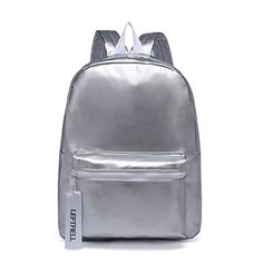 48b4ee29925c New LOYOMA Water Resistant Womens Backpack 15.6 inch Laptop School Bag  Travel Purse (Silver) online. Allfashiondress