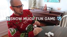 Snow much fun to play this easy DIY Christmas Party game at your annual Christmas party. You'll need cotton balls, spoons, and your most festive … Christmas Party Games For Groups, Christmas Party Games For Kids, Fun Christmas Party Games, Family Party Games, Xmas Games, Toddler Party Games, Fun Party Games, Holiday Games, Diy Christmas