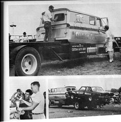 "Car hauler.  Notice panel truck was used to make it a ""crew"" cab"