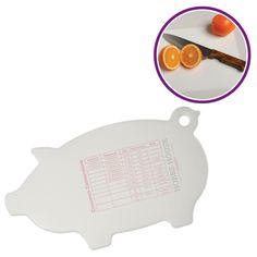 "Slice, dice and prepare to ""pig out"" with the piggy shape flexible cutting board. Top rack dishwasher safe. Ideal #promoproduct for your #household. Evans Manufacturing 