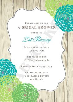 Rustic Wedding Bridal Shower Invitation Engagement by jcbabycakes, $11.00