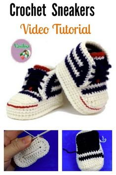 How To Crochet My Easy New Born Baby Converse Style . Ravelry: Baby Converse Pattern By Suzanne Resaul. How To Crochet My Easy Petite Baby Converse Style Slippers . Crochet Baby Mittens, Crochet Baby Blanket Beginner, Crochet Baby Shoes, Crochet For Boys, Crochet Baby Booties, Crochet Slippers, Baby Knitting, Baby Converse, Converse Sneakers
