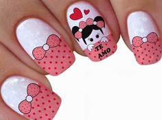 Ruby Nails, Pink Nails, Gel Nails, Pink Nail Designs, Trendy Nail Art, Sparkle Nails, Holiday Nails, Beauty Nails, Nail Colors
