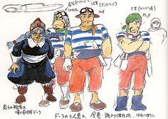 Film: Castle In The Sky ===== Character Design: Dola & Dola's Gang ===== Production Company: Studio Ghibli ===== Director: Hayao Miyazaki ===== Producer: Isao Takahata ===== Written by: Hayao Miyazaki ===== Distributed by: Toei Company
