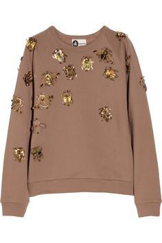 Lanvin|Embellished cotton-terry sweatshirt|NET-A-PORTER.COM - $1,545 (about $1,500 too much hah)