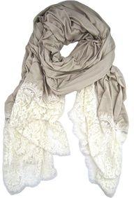 lace trim scarf- gorgeous