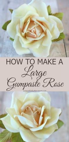 How to Make a Large Gumpaste Rose 3