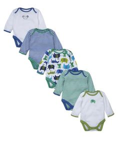 Mothercare Sketchy Zoo  Bodysuits - 5 Pack £13