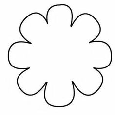 Free Felt Craft Patterns | Flower Template or Coloring Page