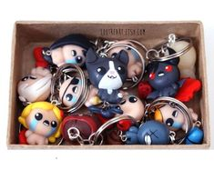 The Binding Of Isaac Rebirth Keychain / phone Charm (Any character) Afterbirth Apollyon Keeper Lilith added The Binding Of Isaac, Painted Boxes, Hand Painted, Bubble, Blue Pill, House On A Hill, Dungeons And Dragons, Best Gifts, Geek Stuff