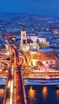 Bratislava Slovakia, Continental Europe, Winter Night, Central Europe, Travelogue, Daily Photo, Travel Europe, Slovenia, Czech Republic