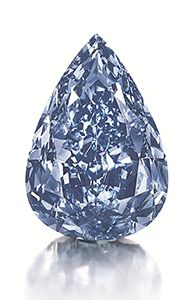 "Christie's sale sets new record. ""The Winston Blue"" helped bring Christie's auction held Wednesday in Geneva to the status of highest total ever for a jewelry auction. The fancy vivid blue diamond sold for $23.8 million."
