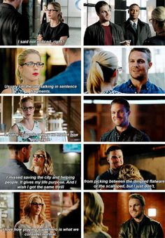 Felicity + making Oliver laugh #Olicity #arrow