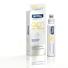 Roll-On de Ojos NIVEA Q10 Plus. Proporciona un suave masaje con efecto frío descongestionante gracias al aplicador. Reduce bolsas y signos de fatiga, así como las arrugas en el contorno de ojos.