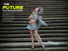 Futuristic High Fashion Conceptual By Julie Vce  model Antonina Orlova at Burgundy Dine & Wine  by Wiel Photography