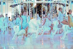 LV SS2012- i just love the carousel! and the clothes, love the pastels. This makes me excited for spring clothes :)