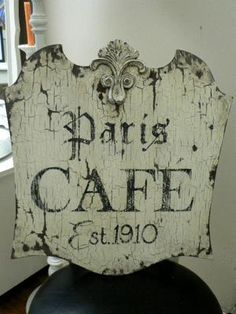 parisian decor/images | : paris cafe large.jpg provided by Pink Pig Antiques & Cottage Decor ...
