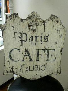 parisian decor/images | : paris cafe large.jpg provided by Pink Pig Antiques & Cottage Decor ...