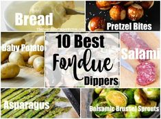 fondue Want to bring the best fondue dippers to your next fondue party? I've tried all of these first hand at multiple fondue parties, and they are always the dippers that get eaten first, and Cheese Fondue Dippers, Best Cheese Fondue, Swiss Cheese Fondue, Cheese Fondue Recipes, Queso Cheese, Cheese Food, Goat Cheese, Balsamic Brussel Sprouts, Kitchens
