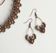 Bohemian black earrings micromacrame earrings от OuiClementine