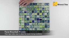 Stained Glass Mosaic Tile Brazil 1x1 - 120HIRHIAR0142MB11 - http://www.mineraltiles.com/stained-glass-mosaic-tile-brazil-1x1