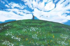 Hill on a Summers day. Original Painting on by MarisaOriginalArt, £25.00