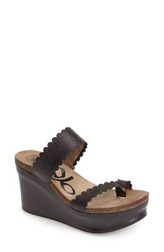 OTBT 'Beach Park' Leather Wedge Thong Sandal (Women) available at #Nordstrom