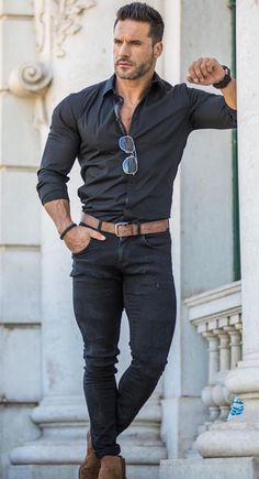 Style vestimentaire homme sportif 21 New ideas Stylish Mens Outfits, Casual Outfits, Men Casual, Casual Boots, Casual Dresses, Casual Jeans, Mode Masculine, Fashion Mode, Fashion Styles