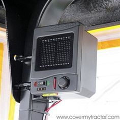 Tractor Cab Ceramic Heater with direct battery hook-up comes with all attaching hardware for your cab enclosure, UTV, RTV or ATV Side By Side Accessories, Utv Accessories, Tractor Accessories, New Trucks, Cool Trucks, Luxury Campers, Tractor Cabs, Landscape Trailers, Snow Vehicles