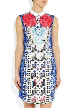 Peter Pilotto|An printed silk-blend jacquard mini dress