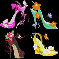 FASHIONISTA SHOES4 INCH  10 Machine Embroidery Designs