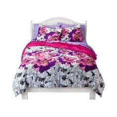 Floral comforter. $39.99 and up at Target.