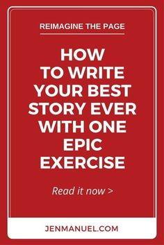 Write your best story ever with this one epic exercise. It's simple, powerful, and long forgotten. And, it's easy to add to your daily writing routine! This is quite an interesting idea, I don't know that I'd do it but it's something to think about. Creative Writing Tips, Book Writing Tips, Writing Process, Writing Resources, Writing Help, Writer Tips, Writing Skills, Creative Writing Exercises, Short Story Writing