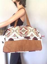 Atenti Bag Overnight Duffel Designer Fashion Animal Print Tribal American Indian