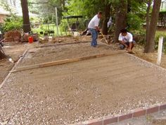 Prevent shifting and movement of your patio by establishing a solid edging.