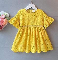 Collections : Image of My Sol Girls Dresses Sewing, Stylish Dresses For Girls, Toddler Girl Dresses, Little Girl Dresses, Baby Frocks Designs, Kids Frocks Design, Baby Girl Frock Design, Kids Dress Wear, Dress Girl