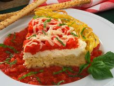 Spaghetti Pie: with a spaghetti crust and a creamy ricotta filling it is a keeper; easy to prepare