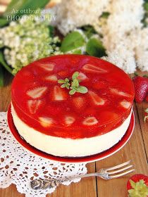 Az otthon ízei: Epres túrótorta sütés és tojás nélkül Anyák napjára No Salt Recipes, Cake Recipes, Dessert Recipes, Cooking Recipes, Dessert Drinks, Köstliche Desserts, Summer Desserts, Yummy Snacks, Delicious Desserts