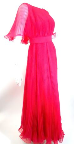 1960s pleated pink Miss Elliette dress, DCV archives