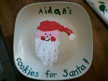 Cookies for Santa plate - Cookies for Santa plate - Santa Handprint, Handprint Art, Magic Reindeer Food, Santa And Reindeer, Christmas Eve Traditions, Cookies For Santa Plate, Footprint Crafts, Christmas Templates, Christmas Crafts For Kids