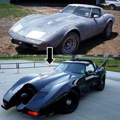 '78 Corvette Turned into a DIY Batmobile